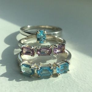 💜NEW! Solid Sterling Stack Rings💜